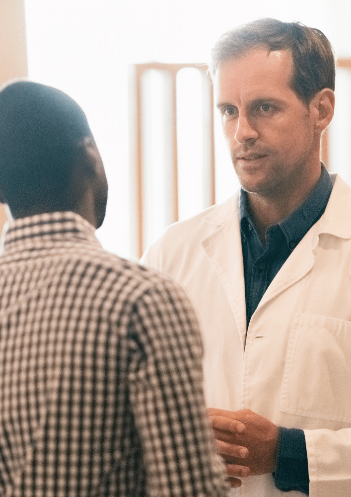 Doctor speaking with patient about BPH