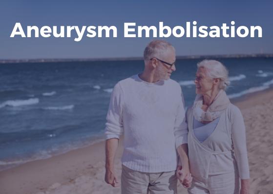 Embolisation of aneurysm